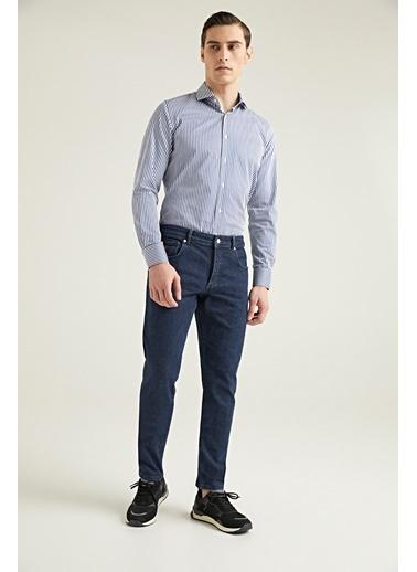 Damat Slim Fit Denim Pantolon Lacivert